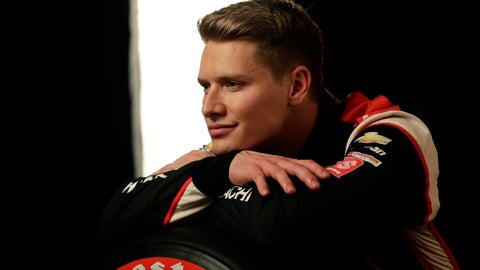 <p>               IndyCar driver Josef Newgarden poses for photos during IndyCar Media Day, Monday, Feb. 10, 2020, in Austin, Texas. (AP Photo/Eric Gay)             </p>