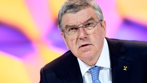 <p>               FILE - In this Jan. 10, 2020, file photo, Thomas Bach, president of the International Olympic Committee (IOC), speaks during the 135th Session of the IOC on the sidelines of the the third Winter Youth Olympic Games Lausanne 2020, at the SwissTech Convention Centre, in Lausanne, Switzerland. Hoping to boost morale in Japan by assuring the Tokyo Olympics will be held as scheduled, IOC President Thomas Bach has held a conference call limited to three of Japan's main's media outlets: the newspapers Asahi and Yomiuri, and the national Kyodo news agency. (Laurent Gillieron/Keystone via AP, File)             </p>