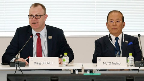 """<p>               Chief Executive Officer Toshiro Muto, right, and Craig Spence, head of communications of the International Paralympic Committee, attend a news conference in Tokyo Wednesday, Feb. 5, 2020. Tokyo Olympic organizers said Wednesday they are increasingly concerned about the disruption the fast-spreading virus in China is causing with the games opening in just under six months. """"I am seriously worried that the spread of the infectious disease could throw cold water on the momentum toward the games,"""" Muto said. """"I hope that it will be stamped out as soon as possible."""" (Kyodo News via AP)             </p>"""