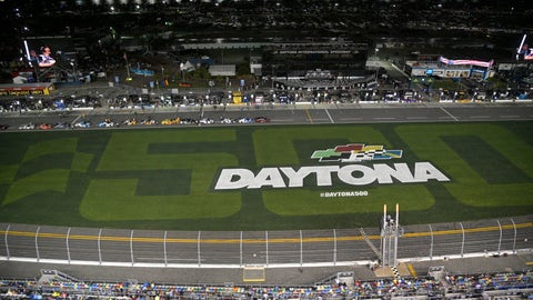 <p>               Drivers stop on pit road as rain begins falling before the first of two Daytona 500 qualifying auto races at Daytona International Speedway, Thursday, Feb. 13, 2020, in Daytona Beach, Fla. (AP Photo/Phelan M. Ebenhack)             </p>