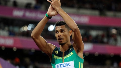 <p>               FILE - In this Wednesday, Aug. 9, 2017 file photo, South Africa's Wayde van Niekerk applauds after finishing a Men's 200m semifinal during the World Athletics Championships in London.  Olympic 400-meter champion Wayde van Niekerk is competing again after more than two years out with a career-threatening knee injury, it was reported on Tuesday, Feb. 25, 2020. Van Niekerk ran at two low-level meets over the past week in Bloemfontein, South Africa, and came through them without any problems. (AP Photo/David J. Phillip, File)             </p>