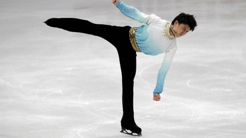 <p>               Japan's Yuzuru Hanyu performs during the men's single short program competition in the ISU Four Continents Figure Skating Championships in Seoul, South Korea, Friday, Feb. 7, 2020. (AP Photo/Lee Jin-man)             </p>
