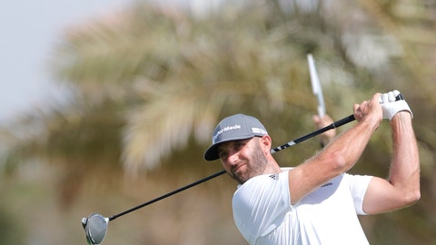 <p>               American Dustin Johnson follows his ball at the 6th hole during the third round of the Saudi International at Royal Greens Golf and Country Club, Saturday, Feb. 1, 2020, in Red Sea resort of King Abdullah Economic City, Saudi Arabia. (AP Photo/Amr Nabil)             </p>