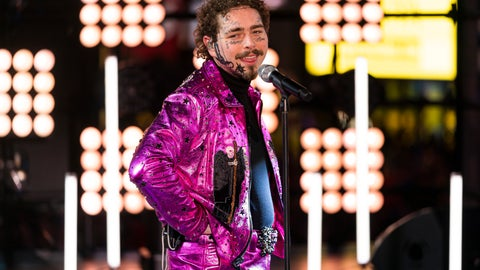 <p>               Post Malone performs at the Times Square New Year's Eve celebration, Tuesday, Dec. 31, 2019, in New York. (Photo by Ben Hider/Invision/AP)             </p>