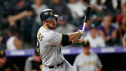<p>               FILE - In this Aug. 31, 2019 file photo, Pittsburgh Pirates catcher Jacob Stallings (58) bats in the ninth inning of a baseball game against the Denver Rockies in Denver.  Stallings did whatever he could to extend his career. Now the 30-year-old Pittsburgh Pirates catcher who was once an afterthought now figures to be the starter on opening day, a testament to his perseverance and the team's move to become more defensively oriented in 2020. (AP Photo/David Zalubowski, File)             </p>