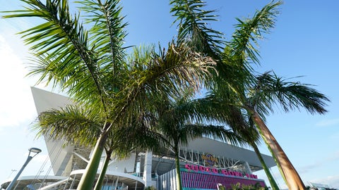 <p>               Hard Rock Stadium is shown Thursday, Jan. 30, 2020, in Miami Gardens, Fla., in preparation for the NFL Super Bowl 54 football game. (AP Photo/David J. Phillip)             </p>