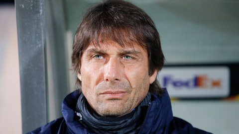 <p>               Inter Milan's head coach Antonio Conte sits on the bench before an Europa League, round of 32, first leg, soccer match between PFC Ludogorets Razgrad and Inter Milan at Huvepharma Arena in Razgrad, Bulgaria, Thursday, Feb. 20, 2020. (AP Photo/Vadim Ghirda)             </p>