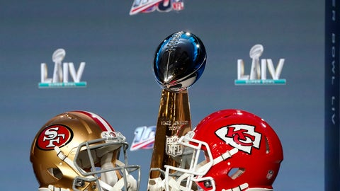 <p>               The Vince Lombardi Trophy is displayed before a news conference for the NFL Super Bowl 54 football game Wednesday, Jan. 29, 2020, in Miami. (AP Photo/David J. Phillip)             </p>