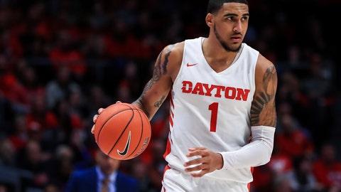 <p>               Dayton's Obi Toppin controls the ball during an NCAA college basketball game against Rhode Island, Tuesday, Feb. 11, 2020, in Dayton, Ohio. Dayton won 81-67. (AP Photo/Aaron Doster)             </p>