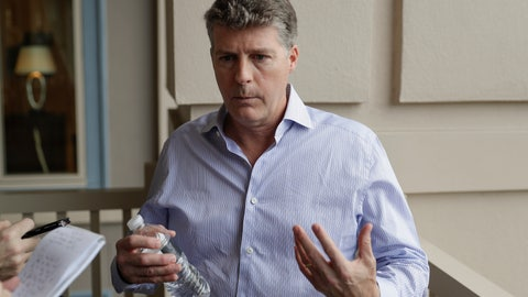<p>               Hal Steinbrenner, principal owner of the New York Yankees, talks with reporters during MLB baseball owners meetings, Wednesday, Feb. 5, 2020, in Orlando, Fla. (AP Photo/John Raoux)             </p>