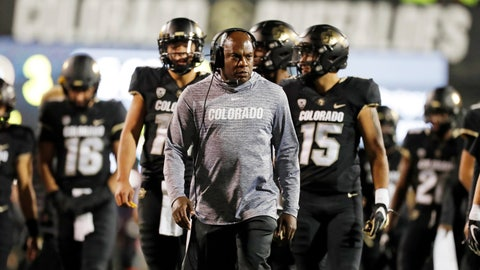 <p>               FILE - In this Oct. 25, 2019, file photo, Colorado head coach Mel Tucker watches during the first half of an NCAA college football game in Boulder, Colo. Colorado coach Mel Tucker said he's still committed to the Buffaloes, even after the Michigan State job opened earlier in the week. Michigan State's job came open when Mark Dantonio announced his retirement Tuesday. Tucker was a graduate assistant for the Spartans under Nick Saban in the late 1990s. (AP Photo/David Zalubowski, File)             </p>