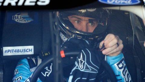<p>               Kevin Harvick gets ready to go out on the track during a NASCAR auto race practice at Daytona International Speedway, Saturday, Feb. 8, 2020, in Daytona Beach, Fla. (AP Photo/Terry Renna)             </p>