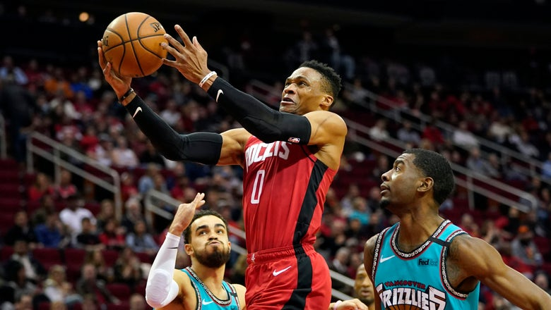 Westbrook scores 33 as Rockets rout Grizzlies 140-112