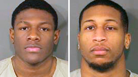 <p>               These photos provided by the Franklin County Ohio Sheriff show Jahsen Wint, left, and Amir I. Reip, right. Police say two Ohio State University football players have been charged with rape and kidnapping. The Columbus Dispatch reports that 21-year-old defensive players Amir I. Riep and Jahsen L. Wint were booked into jail early Wednesday, Feb. 12, 2020. (Franklin County Ohio Sheriff via AP)             </p>
