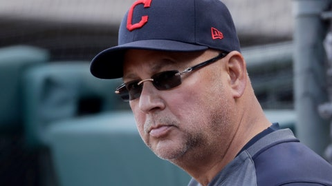 <p>               Cleveland Indians manager Terry Francona watches during the fourth inning of a spring training baseball game against the Kansas City Royals Sunday, Feb. 23, 2020, in Surprise, Ariz. (AP Photo/Charlie Riedel)             </p>