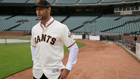 <p>               FILE - In this Nov. 13, 2019, file photo, San Francisco Giants manager Gabe Kapler stands on the field and looks out at Oracle Park in San Francisco after being introduced. Kapler knew from the get-go when named San Francisco's new manager the pressure he would feel taking over as leader of a franchise that has had so many good ones in recent memory. (AP Photo/Eric Risberg, File)             </p>