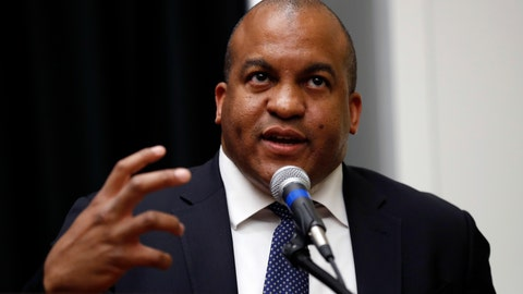 <p>               FILE - In this May 30, 2017, file photo, NBA G League President Malcolm Turner speaks during a news conference in Des Moines, Iowa. Turner, the former NBA G League president who started as Vanderbilt's athletic director on Feb. 1, 2019, resigned Tuesday, Feb. 4, 2020. He has been replaced by Candice Storey Lee, as interim athletic director effectively immediately. (AP Photo/Charlie Neibergall, File)             </p>