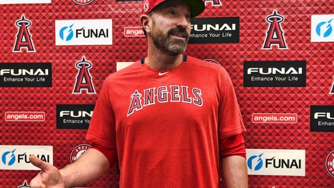 <p>               Los Angeles Angels pitching coach Mickey Callaway speaks about his philosophies outside the clubhouse at Tempe Diablo Stadium in Tempe, Ariz., on Friday, Feb. 14, 2020. After his difficult two-year tenure as the New York Mets' manager ended last fall, Callaway says he is energized by his return to a familiar role as he becomes a key assistant to new Angels manager Joe Maddon. (AP Photo/Greg Beacham)             </p>