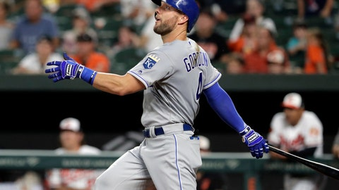 <p>               FILE - In this Aug. 20, 2019, file photo, Kansas City Royals' Alex Gordon follows through on a swing during the third inning of a baseball game against the Baltimore Orioles in Baltimore. Alex Gordon has agreed to consent to a trade by the Kansas City Royals starting June 16, an unusual provision in the outfielder's new $4 million, one-year contract. (AP Photo/Julio Cortez, File)             </p>