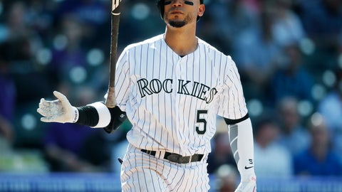 <p>               FILE - In this Wednesday, April 11, 2018 file photo, Colorado Rockies' Carlos Gonzalez tosses his bat after striking out against San Diego Padres relief pitcher Phil Maton to end the sixth inning of a baseball game in Denver. The Mariners are adding depth to their outfield. agreeing Tuesday, Feb. 11, 2020 to a minor league contract with former All-Star Carlos González, according to a person with knowledge of the deal. (AP Photo/David Zalubowski, File)             </p>