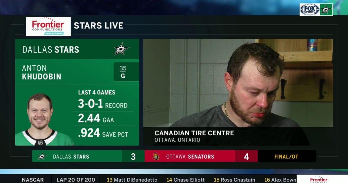 Anton Khudobin on the Stars loss against the Senators (VIDEO)