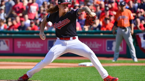 <p>               FILE - In this Oct. 8, 2018, file photo, Cleveland Indians starting pitcher Mike Clevinger delivers in the first inning during Game 3 of a baseball American League Division Series against the Houston Astros in Cleveland. Clevinger doesn't know exactly how he''ll react the next time he's on the mound facing the Astros. Clevinger has been one of the most outspoken critics of the Astros since their sign-stealing scandal broke earlier this month, rocking baseball, leading to suspensions, managerial firings in Houston, Boston and New York and blanketing the sport in a net of suspicion as spring training approaches.(AP Photo/Phil Long, File)             </p>