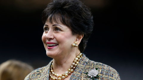 """<p>               FILE - In this Nov. 24, 2019, file photo, New Orleans Saints owner Gayle Benson, watches the team warm up, before an NFL football game against the Carolina Panthers in New Orleans. The Saints contend their behind-the-scenes public relations work on the area's Roman Catholic sexual abuse crisis was """"minimal,"""" but attorneys suing the church allege hundreds of confidential Saints emails show just the opposite, the team actively helping to shape a list of credibly accused clergy that appears to be an undercount. Benson, who is close friends with the local archbishop, have disputed as """"outrageous"""" any suggestion that the team helped cover up crimes.  (AP Photo/Butch Dill, File)             </p>"""