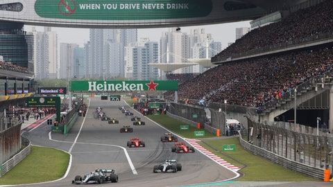 <p>               FILE - In this Sunday, April 14, 2019, file photo, drivers prepare for the start of the Chinese Formula One Grand Prix at the Shanghai International Circuit in Shanghai, China. Formula One's governing body on Wednesday, Feb. 12, 2020, says Shanghai Grand Prix scheduled for April postponed due to virus. (AP Photo/Ng Han Guan, File)             </p>