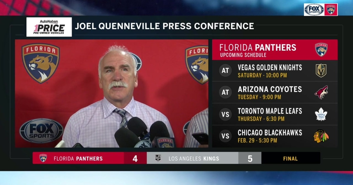 Joel Quenneville on loss to Kings: It was a tough ending (VIDEO)