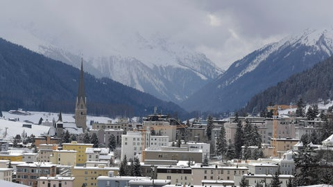 <p>               Snow covers the hills around Davos, Switzerland, Sunday, Jan. 19, 2020. The city will host the 50th annual meeting of the World Economic Forum from Jan. 20 until Jan. 24, 2020. (AP Photo/Markus Schreiber)             </p>