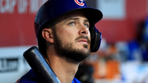 <p>               FILE - In this Aug. 10, 2019, file photo, Chicago Cubs' Kris Bryant (17) sits in the dugout during a baseball game against the Cincinnati Reds in Cincinnati. The All-Star third baseman has lost his service-time grievance against the Cubs, two people with direct knowledge of the situation told The Associated Press on Wednesday, Jan. 29, 2020. (AP Photo/Aaron Doster, FIle)             </p>