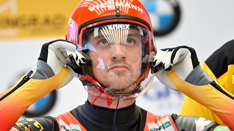 <p>               Johannes Ludwig of Germany prepares to compete, during a men's World Luge Championships event in Krasnaya Polyana, near the Black Sea resort of Sochi, southern Russia, Sunday, Feb. 16, 2020. (AP Photo/Artur Lebedev)             </p>