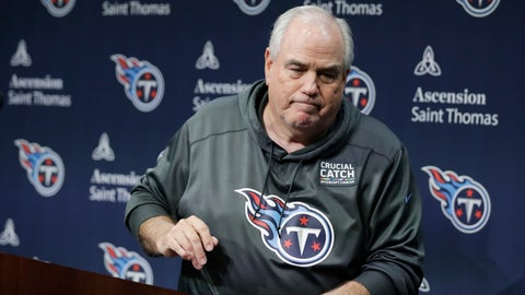 <p>               Tennessee Titans defensive coordinator Dean Pees leaves the podium after announcing he will be retiring from football Monday, Jan. 20, 2020, in Nashville, Tenn. Pees just finished his second season with the Titans as defensive coordinator, and his 47th year in coaching. (AP Photo/Mark Humphrey)             </p>
