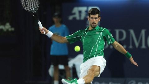 <p>               Serbia's Novak Djokovic shoots the ball to Germany's Philipp Kohlschreiber during a match of the Dubai Duty Free Tennis Championship in Dubai, United Arab Emirates, Wednesday, Feb. 26, 2020. (AP Photo/Kamran Jebreili)             </p>