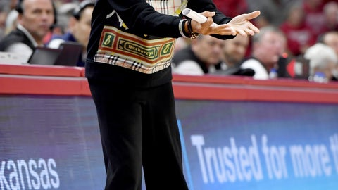 <p>               South Carolina coach Dawn Staley gestures during the second half of the team's NCAA college basketball game against Arkansas on Thursday, Feb. 6, 2020, in Fayetteville, Ark. (AP Photo/Michael Woods)             </p>