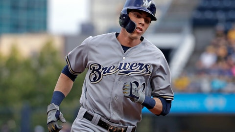 <p>               FILE - In this Monday, Aug. 5, 2019 file photo, Milwaukee Brewers' Christian Yelich rounds third after hitting a solo home run off Pittsburgh Pirates starting pitcher Dario Agrazal during the first inning of a baseball game in Pittsburgh. The Milwaukee Brewers have a lot of work to do in spring training. Having Christian Yelich sure helps. Yelich was working on a strong case for his second straight NL MVP award last year when he broke his right kneecap in September, sidelining the All-Star slugger for the rest of the season. (AP Photo/Gene J. Puskar, File)             </p>