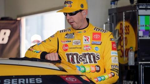 <p>               Kyle Busch prepares to get in his car during NASCAR auto race practice at Daytona International Speedway, Saturday, Feb. 8, 2020, in Daytona Beach, Fla. (AP Photo/Terry Renna)             </p>