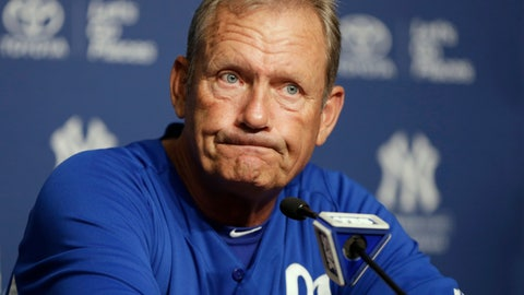 """<p>               FILE - In this July 9, 2013, file photo, Kansas City Royals interim hitting coach and Hall of Famer George Brett discusses the pine tar game in which Brett was called out for using a bat on which pine tar exceeded the 18-inch limit, during a news conference at Yankee Stadium in New York. Nearly three decades after it became known simply as """"The Pine Tar Game,"""" a veritable treasure trove of memorabilia from that memorable Royals-Yankees game is coming to auction for the first time. (AP Photo/Kathy Willens, File)             </p>"""