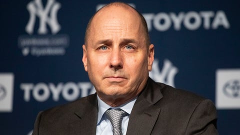 """<p>               FILE - In this Dec. 18, 2019 file photo, New York Yankees general manager Brian Cashman attends a news conference in New York.    Cashman had suspected that the Houston Astros had been breaking rules against electronic sign stealing long before Commissioner Rob Manfred released his report in January that resulted in three big league managers losing their jobs. """"I'll acknowlege at that we had many a conversion with Major League Baseball the last number of years about suspicions, but having suspicions and being able to prove it are two different things,"""" Cashman said Friday, Feb. 14, 2020.  (AP Photo/Mark Lennihan, File)             </p>"""
