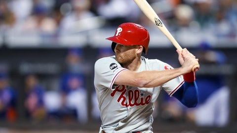 <p>               FILE - In this Sept. 7, 2019, file photo, Philadelphia Phillies' Brad Miller bats during the first inning of the team's baseball game against the New York Mets in New York. Miller and the St. Louis Cardinals agreed to a $2 million, one-year contract Wednesday, Feb. 12, 2020, a deal that includes $500,000 in available performance bonuses. (AP Photo/Mary Altaffer, File)             </p>
