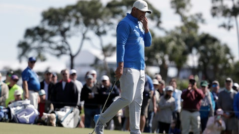 <p>               Brooks Koepka reacts after missing a putt on the eighth hole during the first round of the Honda Classic golf tournament, Thursday, Feb. 27, 2020, in Palm Beach Gardens, Fla. (AP Photo/Lynne Sladky)             </p>