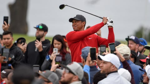 <p>               Tiger Woods watches his tee shot on the second hole of the South Course at Torrey Pines Golf Course during the final round of the Farmers Insurance golf tournament Sunday, Jan. 26, 2020, in San Diego. (AP Photo/Denis Poroy)             </p>