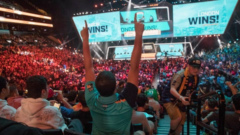 <p>               FILE - In this July 28, 2018, file photo, London Spitfire fan Rick Ybarra, of Plainfield, Ind., reacts after London won the second game against the Philadelphia Fusion during the Overwatch League Grand Finals competition at Barclays Center in New York. The Overwatch League took another step in its ambitious vision when franchises in Dallas and New York hosted season-opening matches last weekend. They were the first of 52 scheduled events on OWL's home-and-away calendar requiring teams to visit host arenas for all 20 teams spanning Europe, North America and Asia. (AP Photo/Mary Altaffer, File)             </p>