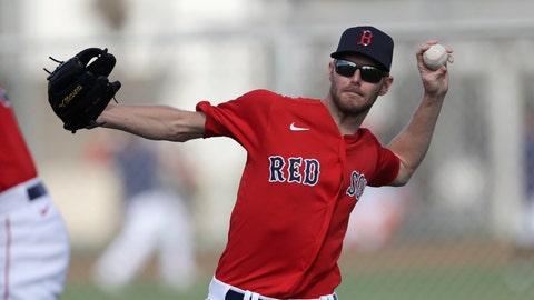 <p>               Boston Red Sox starting pitcher Chris Sale throws during spring training baseball camp Wednesday, Feb. 19, 2020, in Sarasota, Fla. (AP Photo/John Bazemore)             </p>