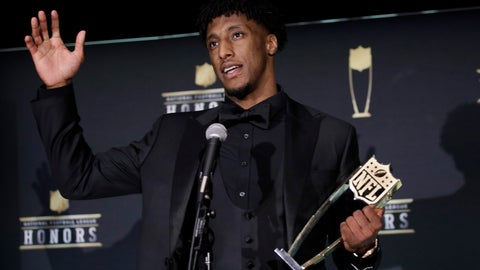 <p>               AP Offensive Player of the Year New Orleans Saints' Michael Thomas speaks at the NFL Honors football award show Saturday, Feb. 1, 2020, in Miami. (AP Photo/Patrick Semansky)             </p>