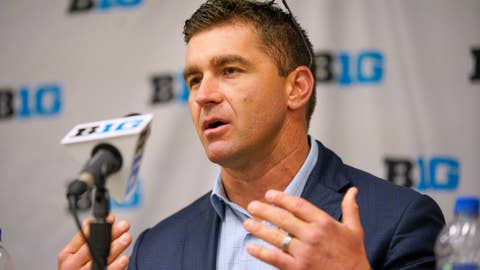 <p>               FILE - In this May 21, 2019 file photo, Michigan coach Erik Bakich speaks during a news conference ahead of the Big Ten NCAA college baseball tournament, in Omaha, Neb. Michigan showed no sign of being a one-hit wonder on the first weekend of the college baseball season. The 2019 national runner-up Wolverines knocked off top-10 opponents Vanderbilt and Arizona State and finished their trip to the Phoenix area with a 3-1 record. The success in the desert earned Michigan a move into the top 10 in the major polls Monday, Feb. 17, 2020. (AP Photo/Nati Harnik, File)             </p>