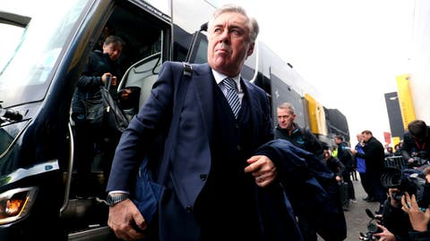 <p>               Everton manager Carlo Ancelotti arrives at the stadium ahead of the English Premier League soccer match against Watford, at Vicarage Road in Watford, England, Saturday Feb. 1, 2020. (Jonathan Brady/PA via AP)             </p>