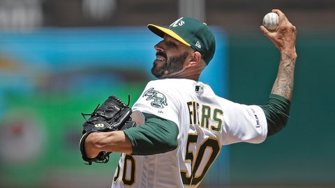 <p>               FILE - In this May 25, 2019, file photo, Oakland Athletics pitcher Mike Fiers works against the Seattle Mariners in the first inning of a baseball game in Oakland, Calif. Fiers and the Athletics might have reason to be downright mad. They won 97 games each of the past two seasons to finish as the second-place team in the AL West behind the Houston Astros, whom Fiers called out in November in a story by The Athletic for a sign-stealing scheme that led to season-long MLB suspensions for Astros general manager Jeff Luhnow and manager AJ Hinch. Fiers insisted at Fan Fest that he is moving forward, declining to address anything regarding what he did by speaking out or even his role cleaning up the sport. He said he owes that to his teammates. (AP Photo/Ben Margot, File)             </p>