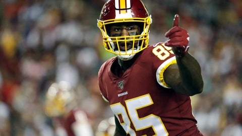 <p>               FILE - In this Monday, Sept. 23, 2019 file photo, Washington Redskins tight end Vernon Davis gestures toward a line judge during the first half of an NFL football game against the Chicago Bears in Landover, Md. Vernon Davis has decided to retire after 14 NFL seasons, Monday, Feb. 3, 2020. The 36-year-old says he wanted to walk away from football while his body was still healthy enough for him to pursue business and television opportunities. (AP Photo/Julio Cortez, File)             </p>