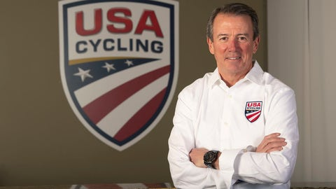 <p>               In this image provided by USA Cycling, Rob DeMartini, CEO of USA Cycling, poses at his offices in Colorado Springs, Colo. One year into his tenure at USA Cycling, Rob DeMartini is pushing the sport's governing body in a new direction. It will still support elite athletes, especially in the lead-up to the 2020 Summer Olympics in Tokyo. But it intends to take a bigger and more visible role in the growth of cycling at all levels. (Casey B. Gibson/USA Cycling via AP)             </p>